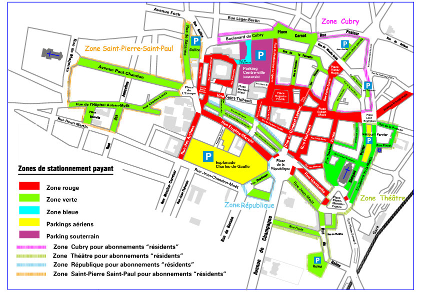 Plans de stationnement payant ville d epernay site for Plan epernay